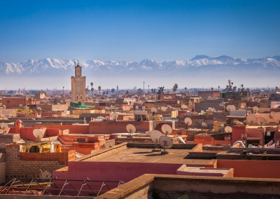 Maurizio De Mattei/Shutterstock.com - Panoramic view of Marrakesh and the snow capped Atlas mountains, Morocco