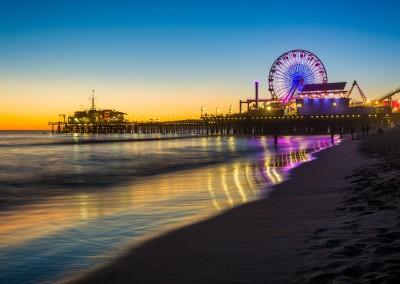 Jon Bilous/Shutterstock.com - The Santa Monica Pier at sunset, in Santa Monica, California.