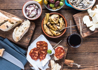 marcin jucha/Shutterstock.com - Traditional tapas served for share with friends in restaurant or bar.